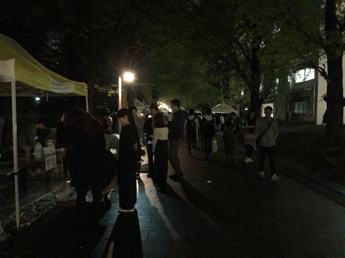 2019駒祭_夜の銀杏並木_川瀬さん