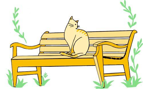 猫乗りベンチ
